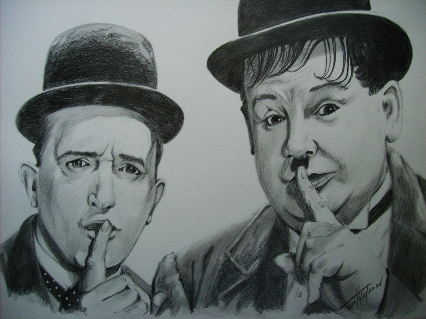 Oliver Hardy, Stan Laurel by Tom-Heyburn